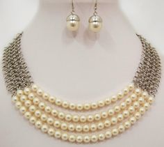multi-strand pearl necklace, summer 2013 fashion trends, cheap fun jewelry, cheap trendy jewelry, pay less shoes — Cents Of Style