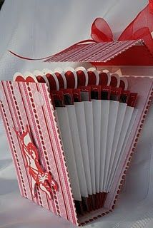Valentine accordion album. good idea to store their valentines from over the yrs.