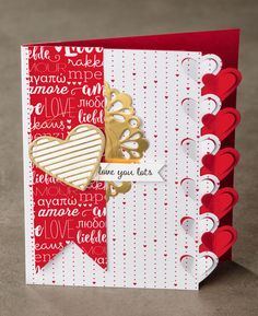 Can you believe the fun edge on this card? Check out the other fun pieces of the Sealed With Love stamp and tool bundle. #stampinup #OccasionsMini2017