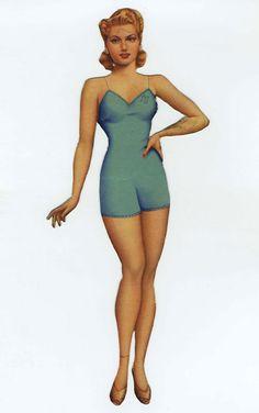 Lana Turner Paper Doll 1, 1940s.