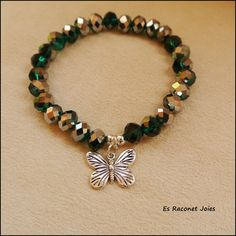 Pulsera mariposa. INFO: esraconetjoies@gmail.com