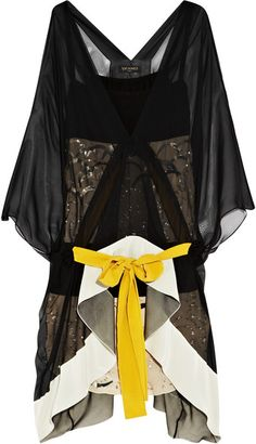 VIONNET Embellished Silk-chiffon Dress