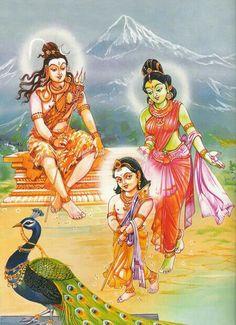 Muruga, Shivji n Parvati🙏🏻🦋☆♡ ⭐️ ☆♡ 💫 Durga, Hanuman, Krishna, Shree Ganesh, Ganesha, Lord Murugan Wallpapers, Kali Mata, Lord Mahadev, Spiritual Images