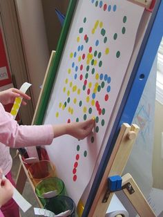 This would be a fun center: colors, art, and fine motor skills
