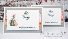 Glückwunschkarte zum Titelaufstieg Stampin' Up! Würze des Lebens Dose Blumenpapier Dose, Stampin Up, Place Cards, Place Card Holders, Frame, Decor, Cards, Picture Frame, Decoration