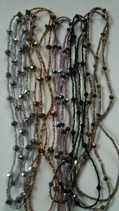 Wholesale, job lot of 5 beaded necklaces. LOT 5 £9.99