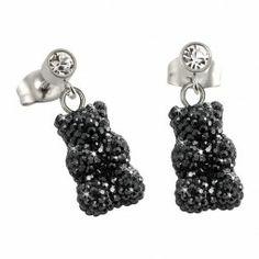 Haribo Ohrringe für Damen mit Swarovski Kristallen schwarz - 360342500
