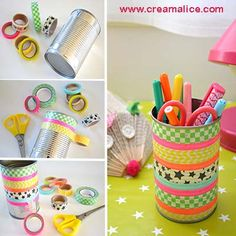 {DIY} Pot Déco Masking tape …