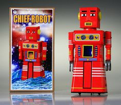 Tin Robot Red Chief Robot TTR58 Vintage Reproduction