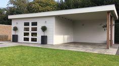 Geweldig!! Strak tuinhuis met veranda! Geheel op maat gemaakt door Jan de Boer Tuinhuizen.
