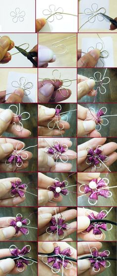 How to make jewelry with wire. Learning Techniques, Tutorials ... - I enrHedando