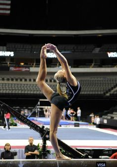 Nastia Liukin on beam in training at 2012 US Olympic Team Trials