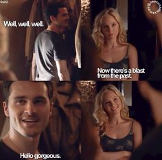 """Hello gorgeous"" I love Enzo & Caroline's chemistry they are awesome!"
