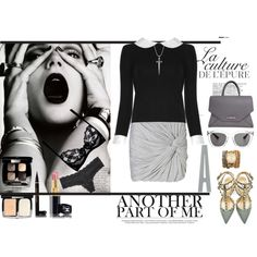 """Black/grey day/night outfit"" by sdiana-1 on Polyvore"