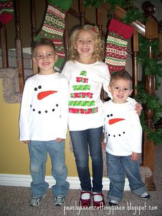 Easy Christmas/winter applauded shirts
