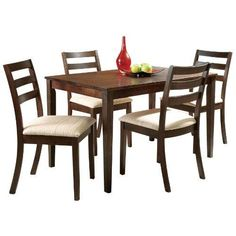 Acme 00867 Tacoma Dining Table, Walnut Finish  This #Tacoma #collection dining table consists solid rubber wood, flat edge profile and shaker leg. Great for dining and kitchen. Some assembly may be required. Dining table measures 30-inch width by 48-inch length.