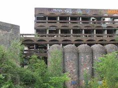 Horizontal composition: Trees, graffiti, and all, the geometry of early ambient techno? The ruins of St. Peter's Seminary
