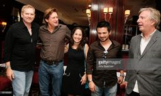 """Director and co-writer Randall Miller, actor Bill Pullman, co-writer Jody Savin, actor Freddy Rodriguez and actor Alan Rickman attend a luncheon to celebrate Freestyle Releasing's """"Bottle Shock"""" at Brasserie Ruhlmann on August 5, 2008 in New York City."""