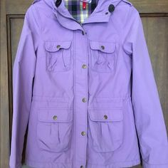 Lilac spring jacket Lightweight jacket, perfect for spring or cool summer nights. Fits xs-sm, cargo pockets. Lightly worn, no stains. H&M Jackets & Coats Utility Jackets