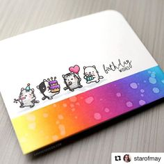 This kitty card by @starofmay is so fab!! #regramwithmamaelephant #thanksforsharing