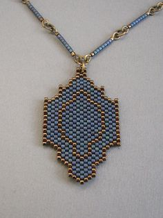 Blue delica necklace