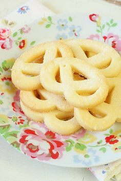 Sugared Danish Butter Cookies