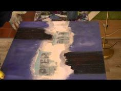 Acrylic Speed Painting Acrylmalerei: Spachteln und Blüten Sabine Belz - YouTube