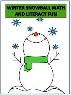 Winter Snowball Math and Literacy Fun from FunTeach on TeachersNotebook.com -  (19 pages)  - Have Students in Kinder and 1st practice reading and math skills in a fun way.