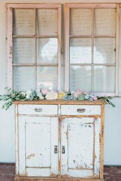 Window seating assignments for Bacara Wedding by Joy de Vivre Event Design…