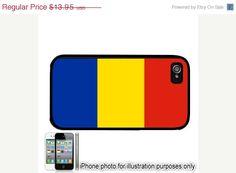 Romania Romanian Flag iPhone 4 4S Case Cover Skin Hard Shell Back $11.86