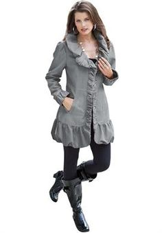 Ruffle Trench Jacket | Plus Size New Jackets & Blazers | Roamans