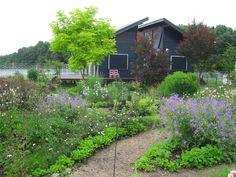 「ポタジェ」とは、フランス語で「家庭菜園」のことですが、日本では花やハーブや野菜を一緒に植えて、食べるだけでなく見た目も楽しむ菜園の事を表します。イギリスでは家庭菜園の事を「キッチンガーデン」と言う事から、この名で呼ぶことも多くなってきています。 Farm Gardens, Garden Farm, Home And Garden, Agriculture, Terrace, Gardening, Backyards, Green, Flowers