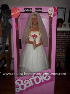 Homemade Collector Edition Wedding Barbie Costume: The idea for my Homemade Collector Edition Wedding Barbie Costume came to me because it happened to be my favorite Barbie when I was growing up. I LOVE
