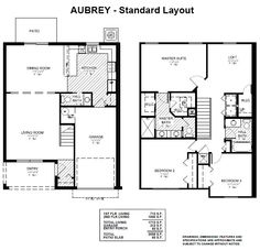 The Aubrey is a 1,713 sq ft 2-story townhome, with 3 bedrooms, 2.5 baths and 1 car garage. Downstairs, enjoy an open living area with kitchen open to the dining room via a breakfast bar, along with a convenient half bath. Upstairs, relax in the master suite with dual vanities, tiled walk-in shower, and closeted toilet. Two second bedrooms share a hall bath and linen closet. The open loft offers plan flexibility - use the space as a playroom, office, or however it suits your needs! #DreamHome