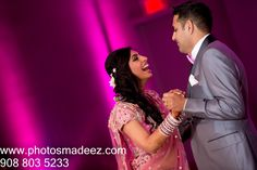 Bride and Groom First Dance for Sindhi & Punjabi Wedding by PhotosMadeEz in Hyatt Jersey City, NJ with Elegant Affairs Inc., SV Bridal Concepts, Sanjana Vaswani, Moghul Catering, Sweetpea planners Featured in Maharani Weddings. Best Wedding Photographer PhotosMadeEz, Award winning photographer Mou Mukherjee Indian Wedding at Jersey City Hyatt.