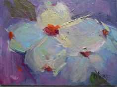Dogwood+Painting,+Flower+Painting,+Small+Oil+Painting,+Daily+Painting,+6x8+Oil+painting+on+panel,+painting+by+artist+Carol+Schiff