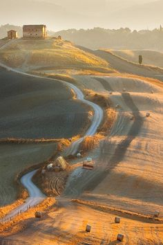 End of summer, Tuscany, Italy, by Marcin Sobas, Val D'orcia Siena