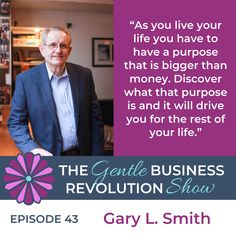 You might know what your purpose is but what comes next? How do you live out your purpose? Gary Smith joins me to discuss how you can lead a purpose-driven life. Gary Smith, Purpose Driven Life, Today Episode, Live Your Life, On Today, Finding Yourself, Business, Business Illustration
