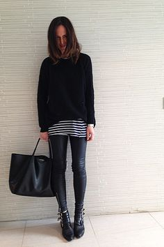 Layering works so well with these Toga Pulla boots. Monochrome Fashion, Minimal Fashion, Simple Outfits, New Outfits, Dress Down Day, Love Her Style, Mode Inspiration, I Love Fashion, Fashion Pictures