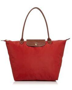 LONGCHAMP Le Pliage Large Shoulder Tote. #longchamp #bags #leather #hand bags #nylon #tote #