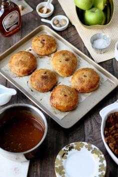 Flaky Apple Dumplings with Salted Maple Caramel   http://joythebaker.com/2015/10/flaky-apple-dumplings-with-salted-maple-caramel/