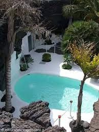 Cesar Manrique swimming pool in his amazing home he designed in Lanzarote. love it!