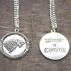 Game of Thrones Stark House Wolf Necklace $6.99  Free shipping worldwide #gameofthrones #gameofthronesfamily #gameofthroneshbo #gameofthronesfanart #gameofthronesfan #gameofthronesmemes #gameofthronesfans #gameofthronesmarathon #gameofthronestour #gameofthronesaddict