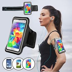 "awesome SAVFY iPhone 6 Plus 5.5"" inch Sport Armband Case - Reflective Sports Armband Dual Arm-Size Slots and Key Pocket Sports Running Jogging Gym Arm Band Case Cover Holder for iPhone 6 Plus"