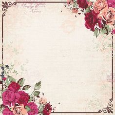 Ideas for wall paper floral printable Invitation Background, Floral Invitation, Flower Backgrounds, Wallpaper Backgrounds, Wedding Cards, Wedding Invitations, Scrapbook Paper, Scrapbooking, Floral Printables