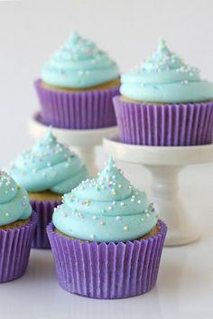 Gorgeous Purple Cupcakes - Simply Stacie