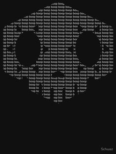 "Sombra icon made out of ""boop"" pattern. Several t-shirts and items available. Overwatch."