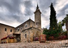 The Church of St. John the Baptist, near Jerusalem, is a Catholic church that was built in the second half of the 19th century on the remnants of earlier Byzantine and Crusader churches.