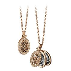 A Diamond and Rose Gold Gate Locket by Monica Rich Kosann | From a unique collection of vintage drop necklaces at https://www.1stdibs.com/jewelry/necklaces/drop-necklaces/