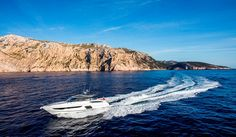 The Princess Open sports yacht flying through the waters off the coast of Mallorca Princess Yachts, Sport Yacht, Luxury Yachts, Luxury Life, Coast, Waves, Sports, Projects, Design